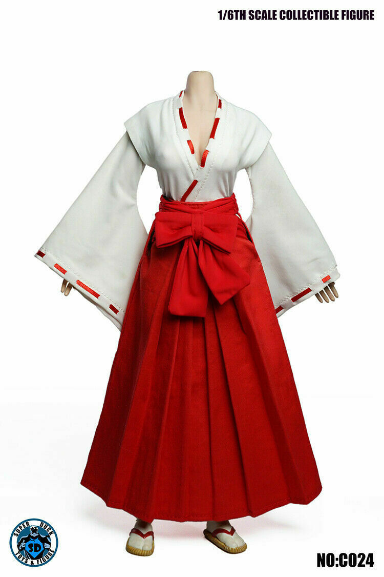 "Red/&White Witch Kimono Skirt For 1//6 Scale Female 12/"" Action Figure 1:6 Toy"
