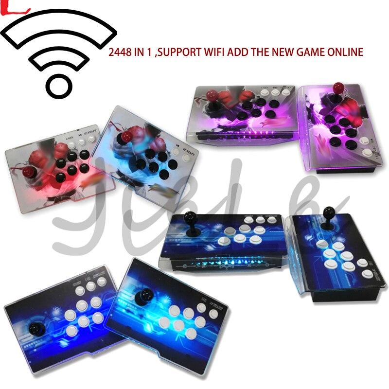 Pandora Box 3D Arcade Box 2448 In 1 WiFi Save Function Zero Delay 8 Buttons Joystick Controller PCB 140 Pcs 3D Games