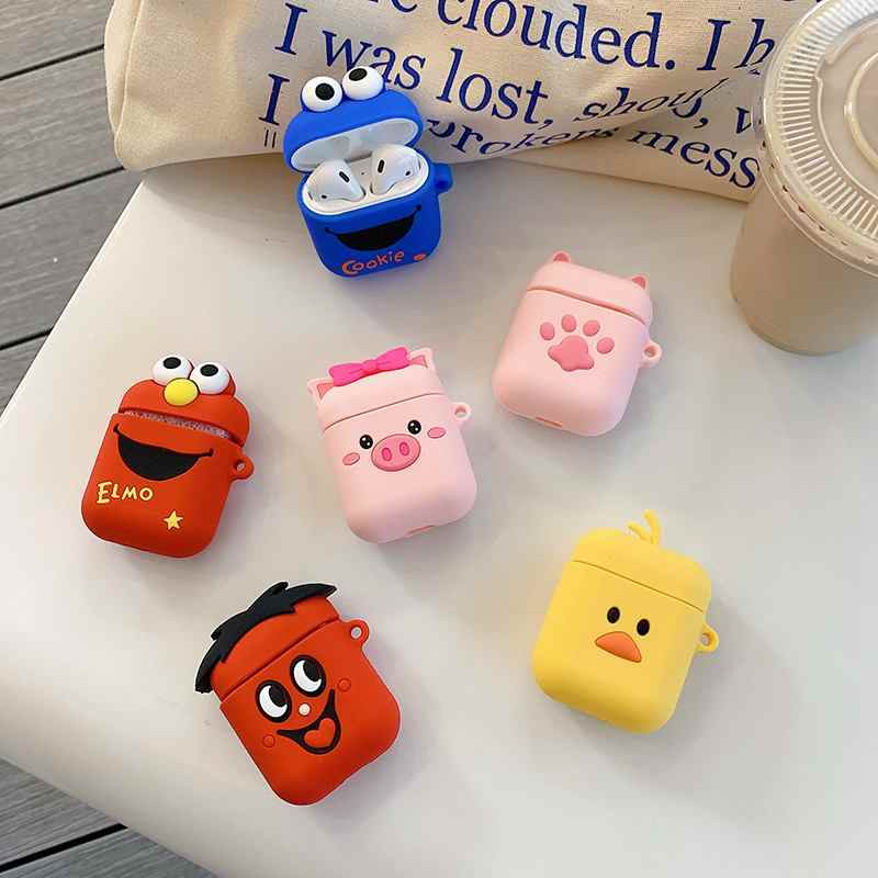 Cartoon Pink Pig Wireless Bluetooth Earphone Case For Apple AirPods 2 Silicon Charging Headphone Case For Airpods Protector Case