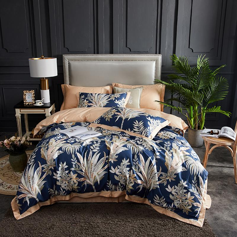 50 European style <font><b>Egyptian</b></font> <font><b>cotton</b></font> 100% <font><b>cotton</b></font> <font><b>bedding</b></font> <font><b>sets</b></font> 4pcs(1 <font><b>duvet</b></font> cover +1 flat sheet+2 pillow cover)king queen bed linens image
