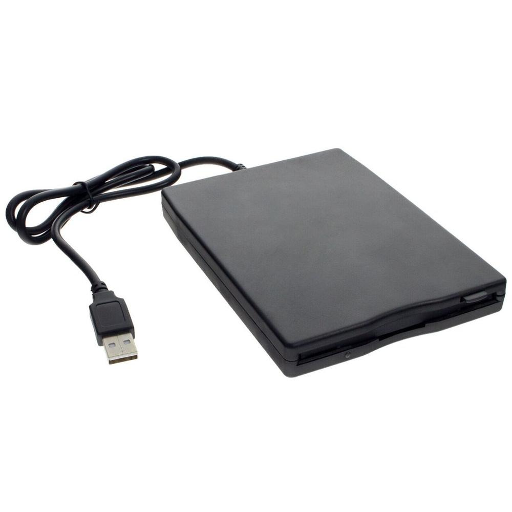 3.5 Inch 1.44 MB Floppy Disk USB External Portable Floppy Disk Drive Diskette FDD For Notebook Laptop PC Black ABS Plastic