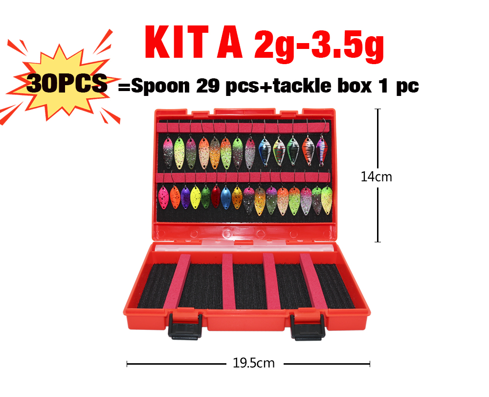 kit spinners baubles glitters iscas de pesca