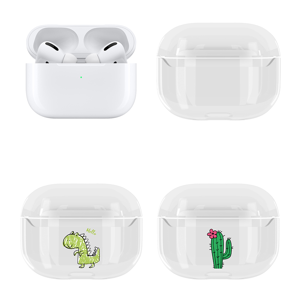 US $1.01 35% OFF|Clear Headphone Storage Box For Apple Airpods Pro Hard PC Earphone Case Protective Cover For Airpods Pro Couple Caes Coque