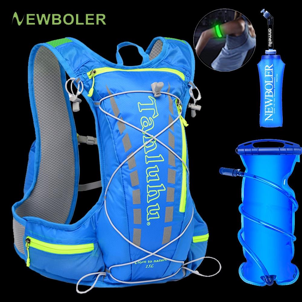 Легкий Рюкзак для бега, жилет для гидратации, 15 л, рюкзак для прогулок, бега, велоспорта, марафона, пешего туризма, скалолазания, уличная спор...
