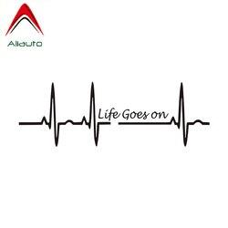 Aliauto Creative Car Sticker Heart Beat Trackpad Life Goes on Nice Vinyl Accessories PVC Decal for Mini Cooper Kia Rio,17cm*5cm