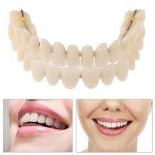 Resina Dentes Dentadura Superior e Inferior Sombra A2 28 pçs/set Fabricados Dentição Preformed Oral Care Ferramenta de Material Artificial