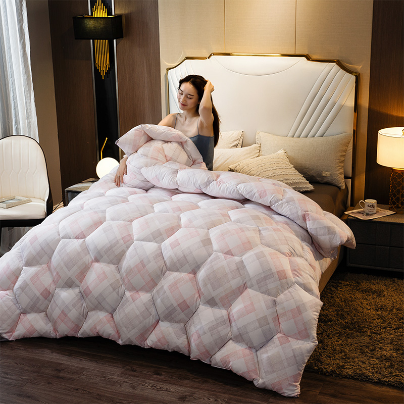 CF Super King Sizes Comforter 4D Luxury Home Hotel Down Duvet Very Warm Winter Thick Blanket/Silk Down Quilt Soft Duvet Quilt