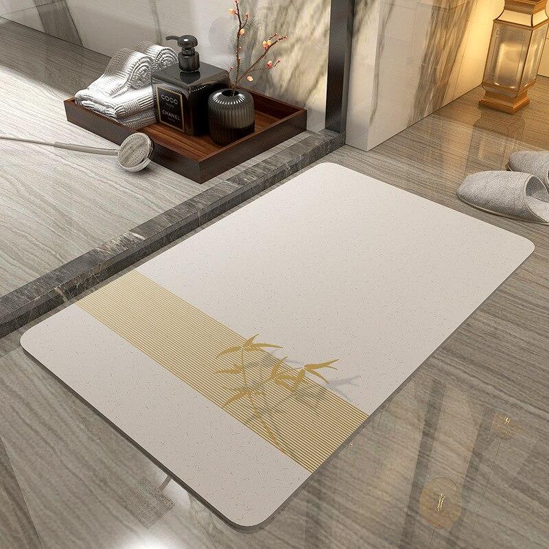 Anti-slip Water Absorption Bath Mat Set Bathroom Soft diatomite Toilet Door Carpet Washable Rug Mat Home Decor 40x60cm 4 Size