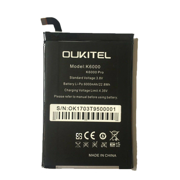 New High Capacity for Oukitel K6000 6000mAh battery Rechargeable Cell Phone Batteries for Oukitel K6000 PRO Smart Phone image
