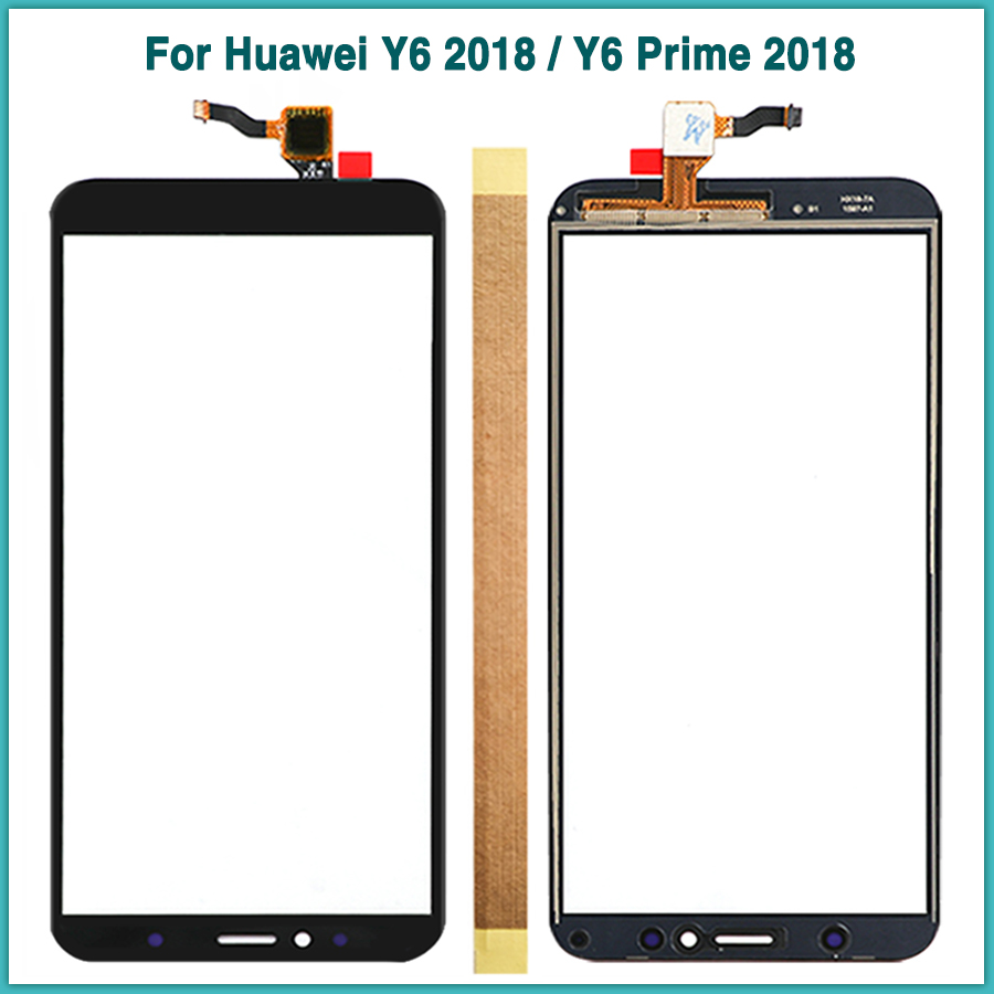New Y6 2018 Touchscreen For Huawei Y6 Prime 2018 Touch Screen Panel Digitizer Sensor Front Glass Lens Replacement