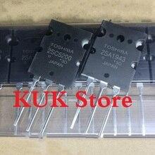 Real Original 100% NEW 2SA1943 2SC5200 A1943 C5200 TO-3PL  10Pair = 2SA1943 10PCS + 2SC5200 10PCS цена 2017