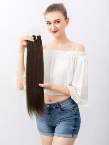 Hair-Machine Hair-Extensions Human-Hairpieces Doreen Clip-In Remy Straight Made 200G