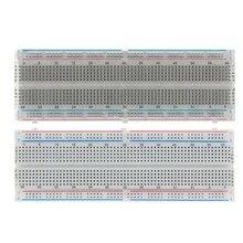 NEW MB 102 MB102 Breadboard 830 Point Solderless PCB Bread Board Test Develop DIY FREE SHIPPING 10PCS