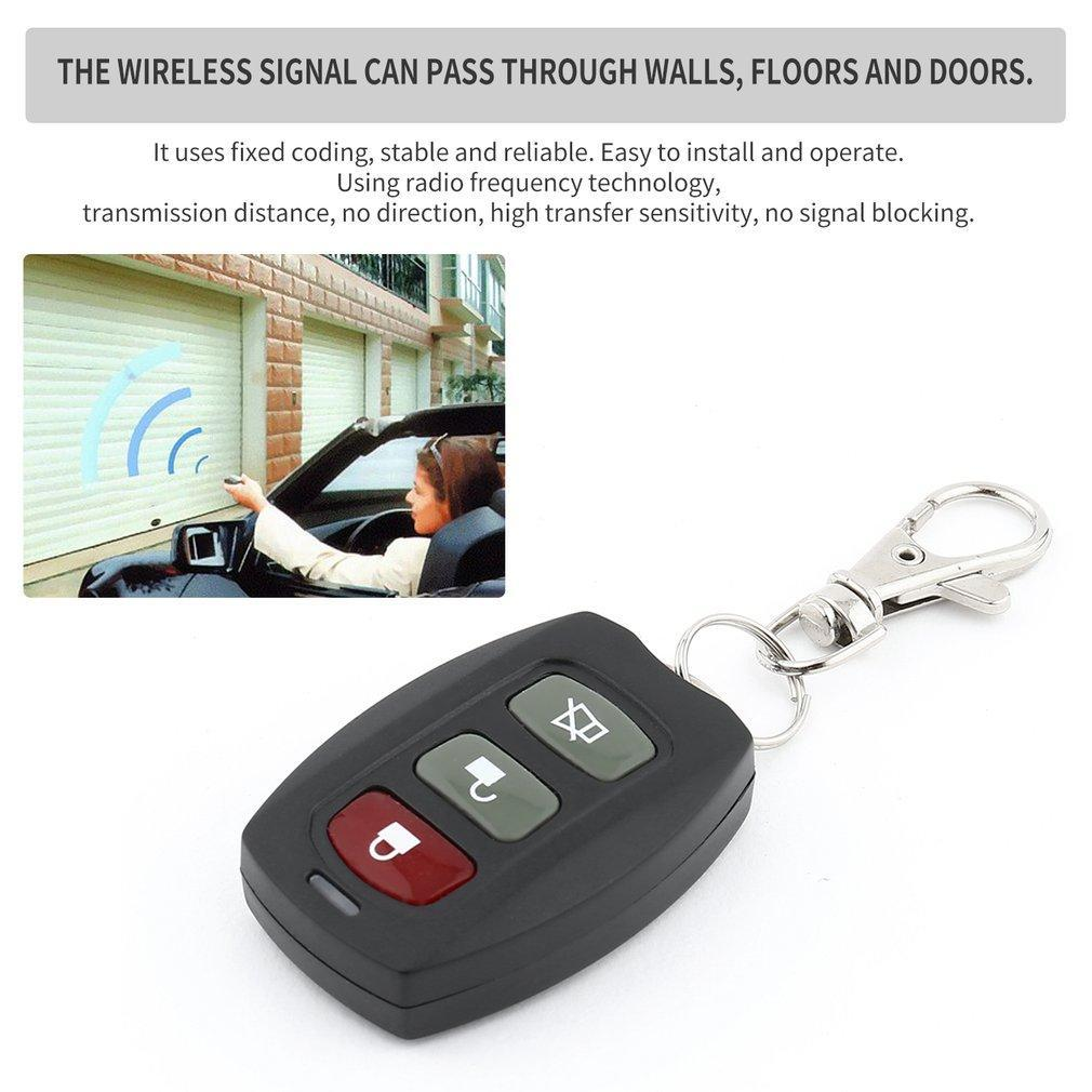 3 Buttons Remote Control Car Key Adjustable Frequency Electric Garage Door SU