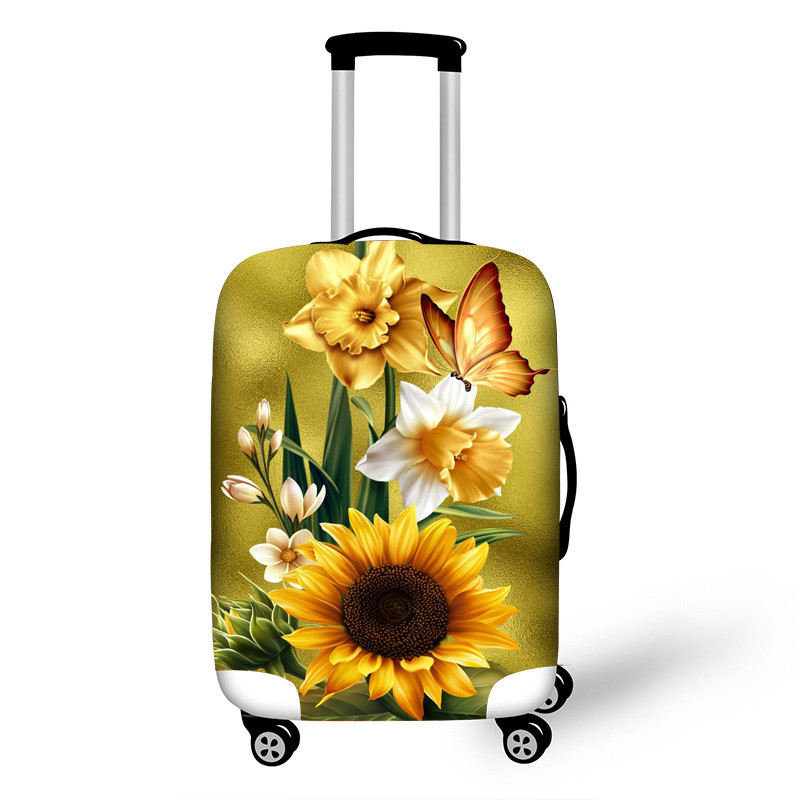 Travel Suitcase Protective Cover Luggage Case Travel Accessories Elastic Luggage Dust Cover Apply To 18''-32'' Suitcase LGX102