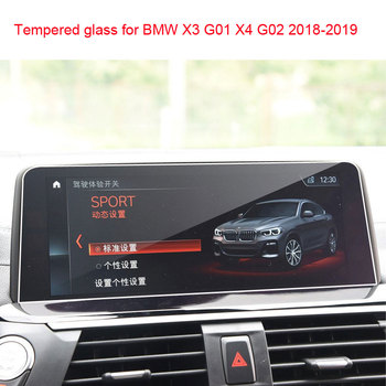 car GPS navigation screen anti-scratch protective Tempered film for bmw x3 2018 2019 X4 G01 G02 image