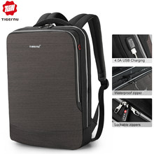 Tigernu 2019 New Business Backpack 15.6 inch Laptop Men Backpack Waterproof with USB Charging Headphone Male Bag Bagpack Mochila(China)