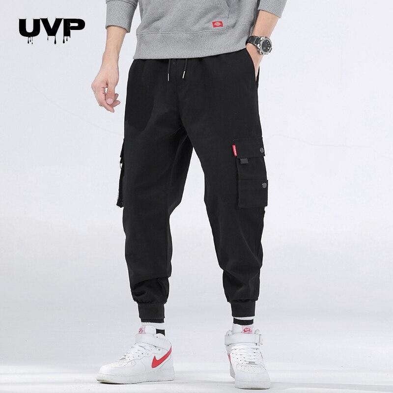 Streetwear Cargo Pants Men's Black Joggers Hip Hop Multi-Pockets Sweatpants Male Tracksuits Bottoms Casual Trousers 2020 Summer