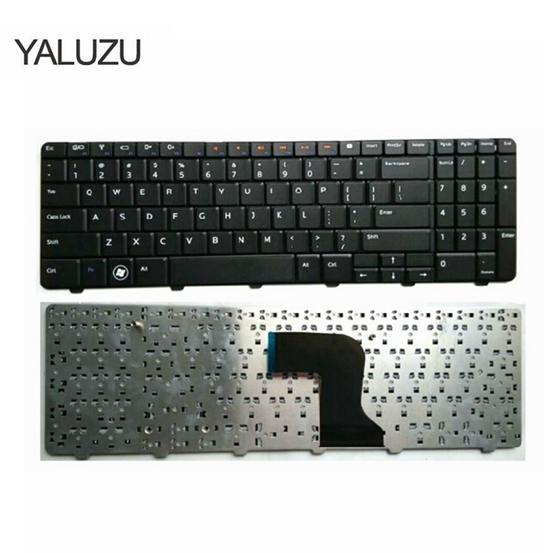YALUZU US NEW Keyboard for <font><b>Dell</b></font> <font><b>Inspiron</b></font> 15 15R N M <font><b>5010</b></font> N5010 M5010 0Y3F2G NSK-DRASW 0JRH7K 9Z.N4BSW.A0R US laptop keyboard NEW image