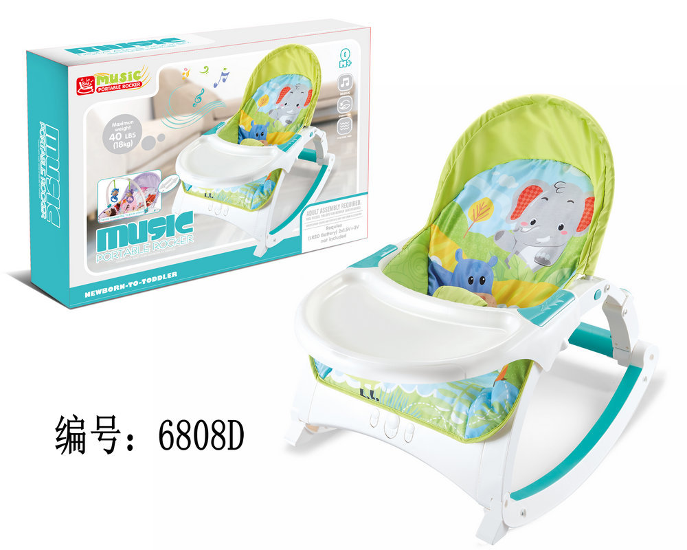 Hfe792525bc9c40ad9744fdf53a80a105i Newborn Multifunctional foldable Electric baby rocking chair with toy music soothing and comfortable shaking baby chair