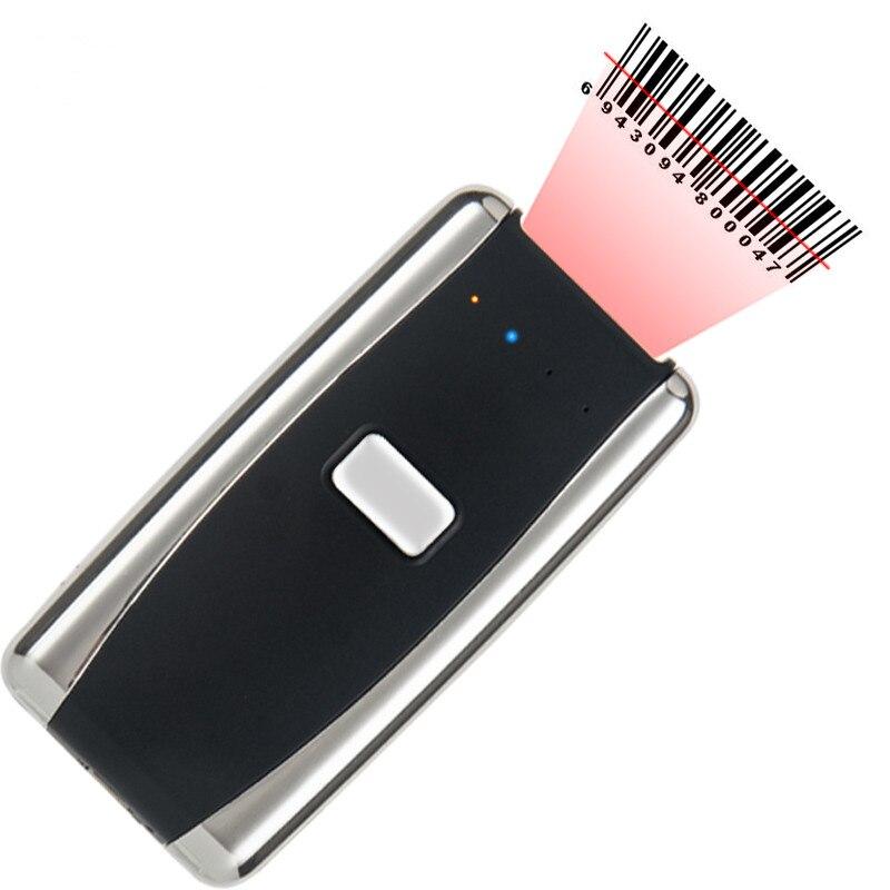 Mini poche sans fil Bluetooth scanner de codes à barres entrepôt logistique transport Portable 1D 2D QR lecteur de codes à barres