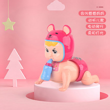 Electric Lighting Crawling Doll Musical Educational Toy Baby Learning to Climb Toy for Baby 0-6-12 Month Old LBV