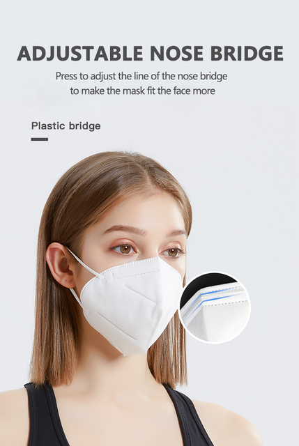 [1~25pcs] KN95 Disposable Face Masks N95 Protective Filter Mouth Respirator Dust Mask Flu Facial template ffp2 Pm2.5 mouth Cover 5
