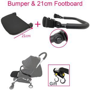 Image 1 - Yoya Stroller Armrest and 21cm Extend Footboard Leather Bumper and Hook For Babyzen Yoyo YuYu Vovo Stroller Accessories Handrest