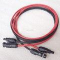 1 пара удлинитель для панели солнечных батарей, медный провод 6 4 2,5 мм2 10 12 14 AWG черный и красный с солнечными PV разъемами кабелей