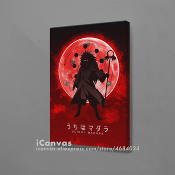 Infinite Tsukuyomi Madara Poster Framed Wooden Canvas Wall Art Decoration Prints for Living Room Home Frame Decor Painting image