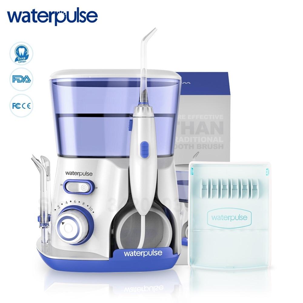 Waterpulse V300 オーラル洗浄器歯科フロッサ 5 とジェットのヒントとケース電子歯科洗浄器歯クリーナー  グループ上の 家電製品 からの 口内洗浄器 の中 1