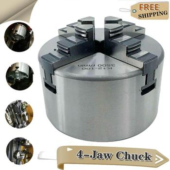 K12-100 100mm Four Jaw Self-Centering Chuck Manual 4-Jaws Chucks Tool Lathe Chuck for Metal CNC Collet Lathes, With Hardened Steel фото