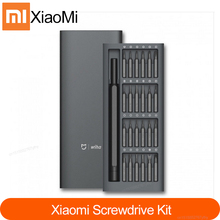 Xiaomi Mijia Wiha caja de aluminio con 24 brocas magnéticas de precisión, Kit de tornillos de uso diario, 100% Original