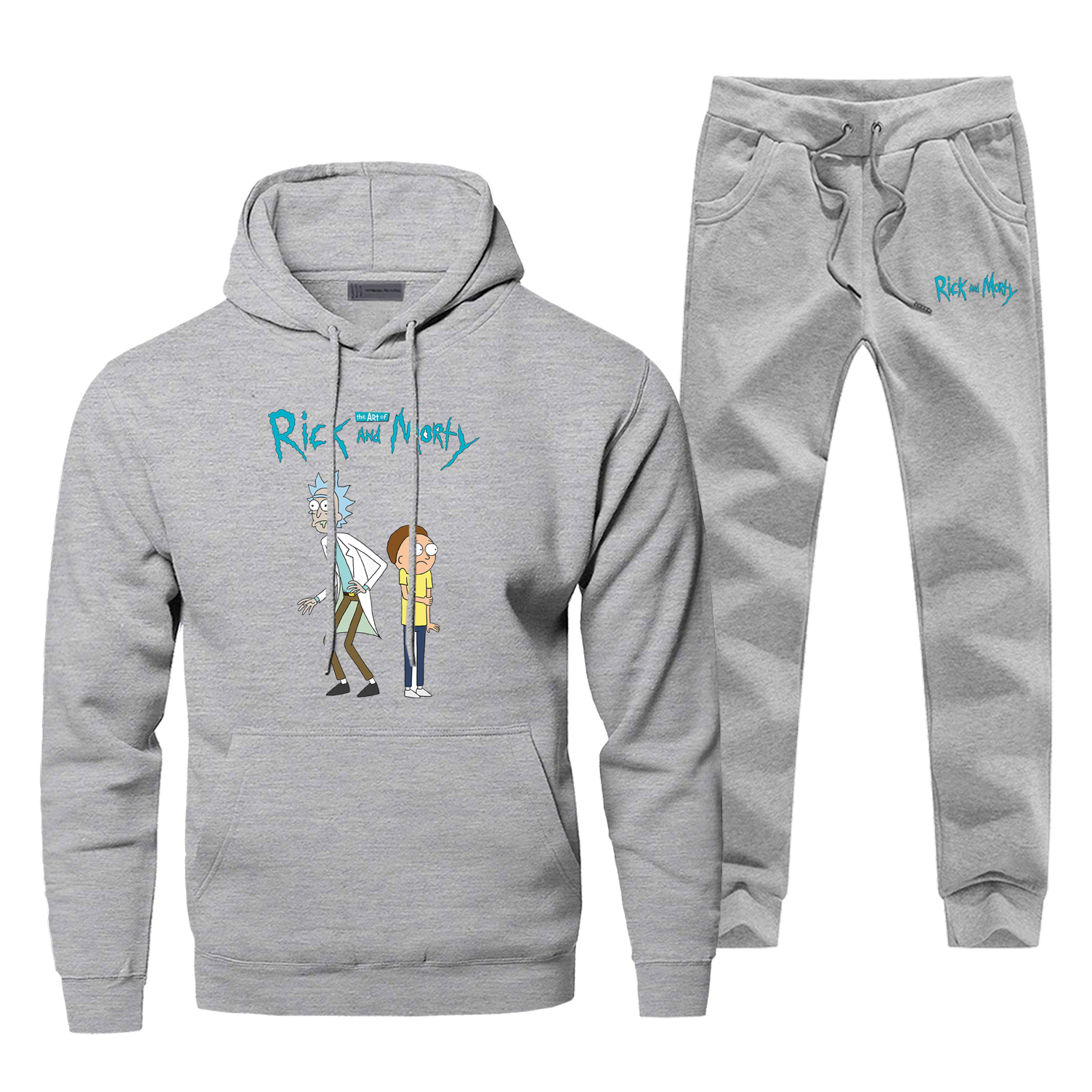 Rick And Morty Hoodies Pants Sets Men Cartoon Suit Tracksuit 2 Piece Top Pant Sweatshirt Sweatpants Sportswear Autumn Sports Set