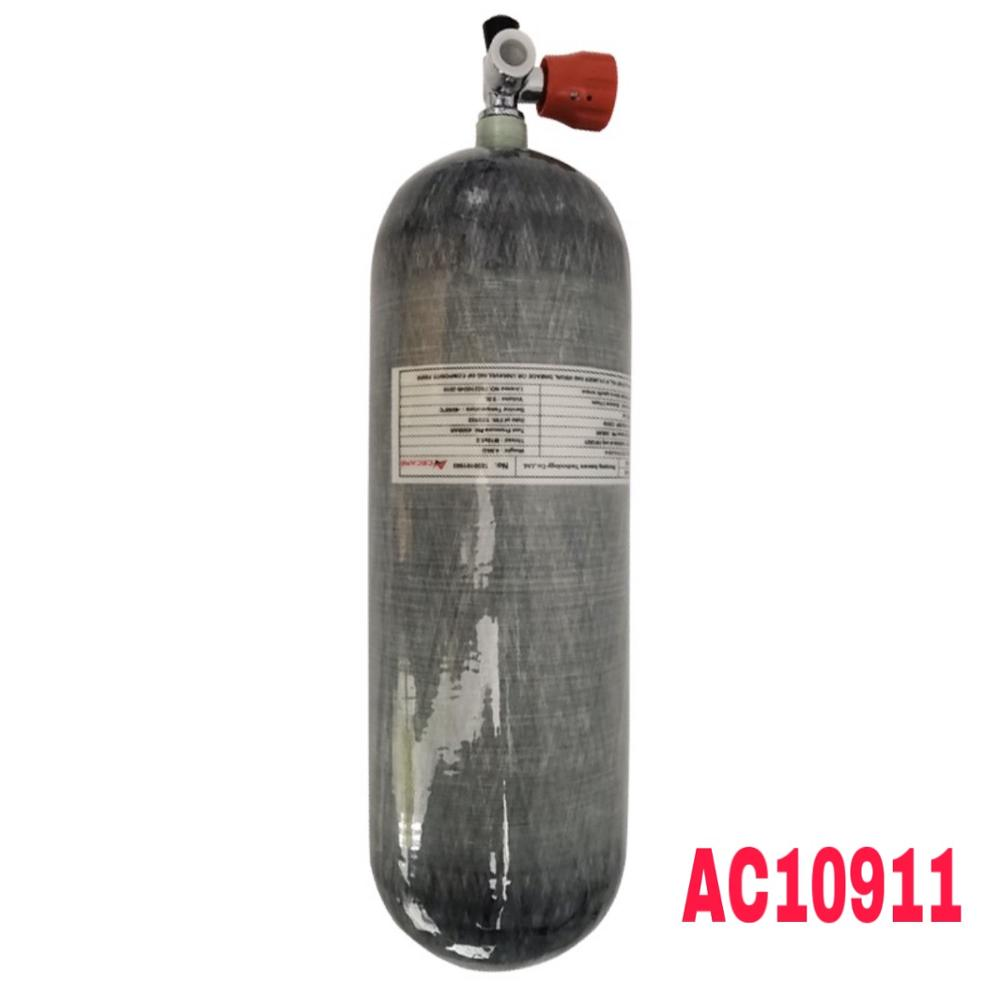Acecare Scuba Tank 9L CE Paintball/Pcp Air Tank 4500psi Carbon Fiber Gas Cylinder For Diving Pcp Air Rifle/Gun Condor Pcp Valve