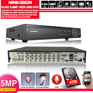 Image 1 - Gezicht 16 Kanaals Ahd Dvr 16CH 1080P 5MP 2592*11944 Digitale Video Audio Recorder Hybride Dvr Nvr Hvr 6 In 1 Alarm Security System
