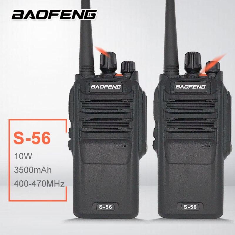 2PCS BAOFENG S-56 Waterproof  High Power 10W Walkie Talkie Two Way Radio Station Woki Toki Ham Radio Hf Transceiver рация