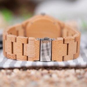 Image 5 - ブランド BOBO BIRD Watch Men Japan Movement Watches mens watches top brand luxury Made of Bamboo Wristwatch OEM Drop Shipping