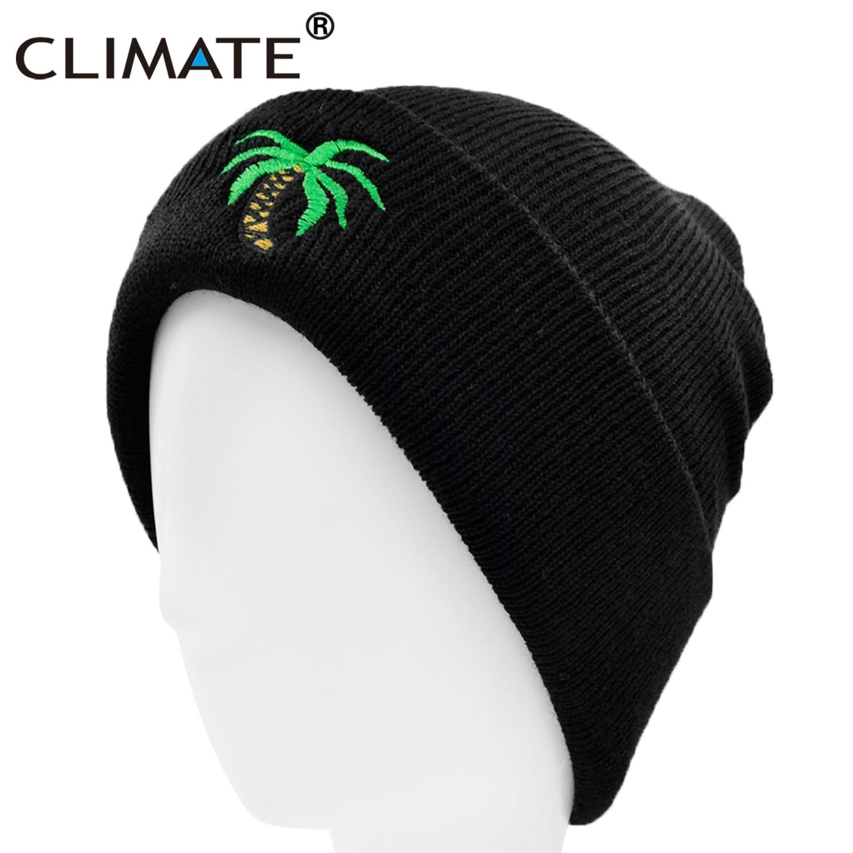 Hat Beanies CLIMATE Warm Women Winter Cool Black for Coconut-Tree Beach-Seaside