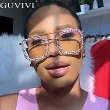 Piazza di Strass Occhiali Da Sole Donne 2020 Diamante di Cristallo Occhiali Da Sole Da Uomo Occhiali di Grandi Dimensioni Fatti A Mano Occhiali Da Sole Delle Signore UV400