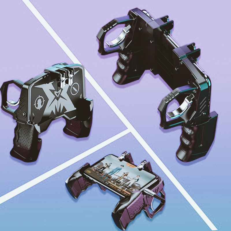 ABS Alloy Mobilephone Accessorie Gamepad Controller Gaming Joystick Handle PUGB Game Shooter Trigger Fire Button for Android IOS