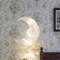Nordic lâmpadas de teto pingente moderno led lua estrela lustre crianças quarto pendurado lâmpada decorações para casa luminária luz|Luzes de pendentes| |  -