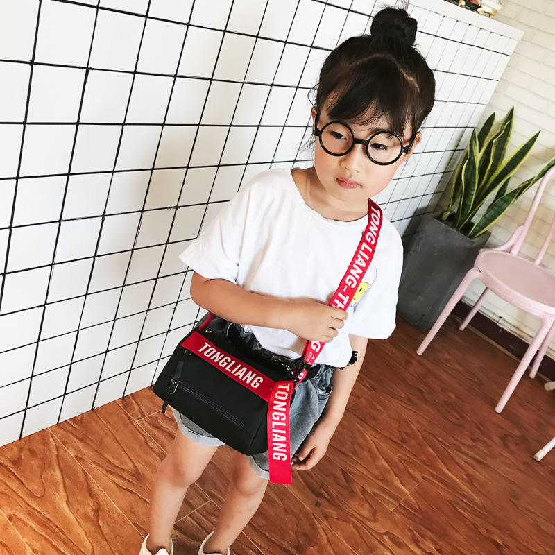 Summer New Style Korean Style Children Men And Women Big Kid Canvas Small Cloth Bag Young STUDENT'S Phone Bag Shoulder Bag