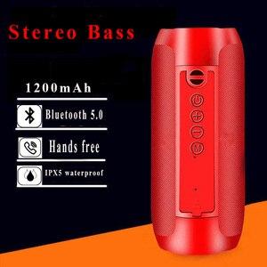 Portable Bluetooth Speaker 20w Wireless Bass Column Waterproof Outdoor USB Speaker AUX TF Subwoofer Loudspeaker powerfu soundbar