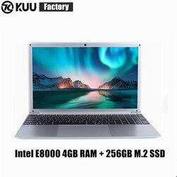 KUU YEPBOOK Laptop pantalla IPS de 15,6 pulgadas para Intel E8000 Quad Core 256GB M.2 Netbook con SSD HDMI WiFi Bluetooth para estudio de oficina