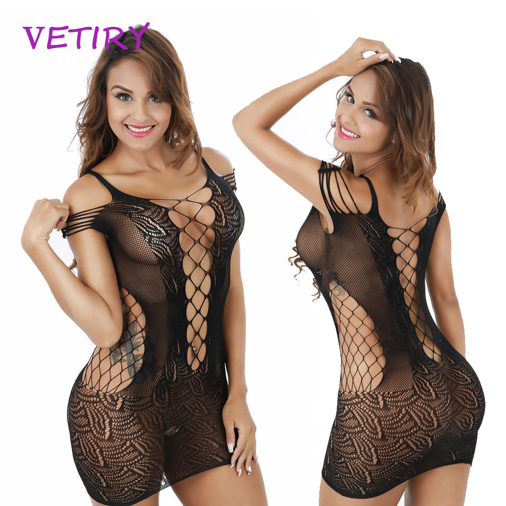 VETIRY <font><b>Sexy</b></font> Lingerie Sex Nightdress Sleepwear Baby Dolls Exotic <font><b>Dress</b></font> Hollow Nightwear Exotic Apparel <font><b>Adult</b></font> Products image