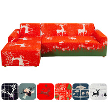 Christmas Xmas Elastic Sofa Seater Cover Protector Slipcover Washable Couch Decor for Living Room Decor Furniture