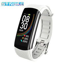 цена на Smart Watch Men Fitness Tracker Temperature Monitoring Bracelet Pedometer Heart Rate Blood Pressure Monitor Smartwatch