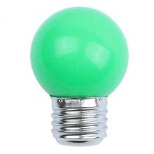 E27 3W 6 SMD LED Energy Saving Globe Bulb Light Lamp AC 110-240V, Green e27 3w 6500k 210 220lm 10 x smd 2538 led white light energy saving lamp bulb white ac 220v