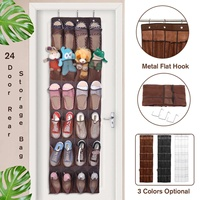 24 Pockets Large Folding Wardrobe Hanging Bags Shoe Organizer Closet Shoes Storage Bag Trunk Closet Rangement For Shoes Toys